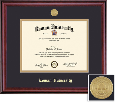 Framing Success Classic MD Mdl Diploma Frame, Double Matted in a Burnished Cherry Finish