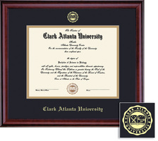 Framing Success Class Doc (2014 only) BA, Honors Dip Frame, Dbl Matted in Burnished Cherry Finish