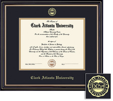 Framing Success Prestige MA (2014 only) Diploma Frame, Dbl Matted in Satin Black Finish, Gold Trim