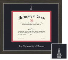 Framing Success Metro Diploma Frame. Double Matted in a Modern Slate Gray with a Pewter Finish
