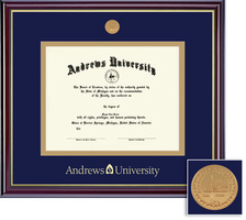 Framing Success Windsor Mdl Diploma Frame. Double Matted in Gloss Cherry Finish, Gold Trim