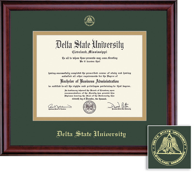delta state university bookstore framing success classic diploma  framing success classic diploma frame double matted in burnished cherry finish