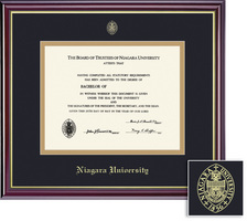 Framing Success Windsor PhD Diploma Frame, Double Matted in Gloss Cherry Finish, Gold Trim