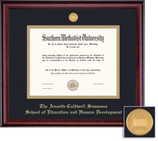 Framing Success Classic Diploma Frame with Burnished Cherry Finish. MA, Ph.D, Ed, Human Dev.