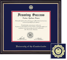 Framing Success Prestige Doctorate Diploma Frame, Dbl Matted in Satin Black Finish, Gold Trim