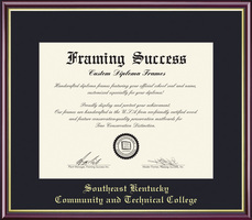 Framing Success Academic Certification Diploma Frame, Single Mat in High Gloss Cherry Finish