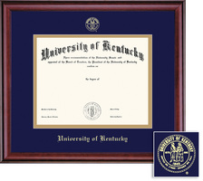 Framing Success Classic Diploma Frame. Double Matted Burnished Cherry Finish. PhD (Pre 05, 07) MA