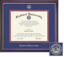 Framing Success Windsor Diploma Frame, Double Matted in Gloss Cherry Finish, Gold Trim
