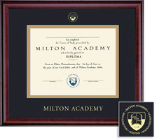 Framing Success Academic Dip Frame, Double Matted in Gloss Cherry Finish with Gold Inner Bevel