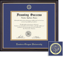 Framing Success Prestige Diploma Frame. Double Matted in Satin Black Finish, Gold Trim