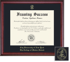 Framing Success Classic Diploma Frame, Black Single Mat in a Rich Burnished Cherry Finish