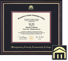 Framing Success Spirit Diploma Frame, Black & Maroon Mat in a Satin Black Finish with Gold Accents