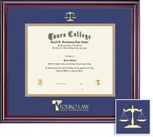 Framing Success Elite Diploma Frame, Double Mat in a Cherry Finish with a High Gloss Coating