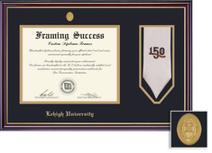 Windsor Diploma and Stole with Medallion and Black and Gold Double Mat