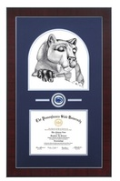 Always a Lion Silver Wood Finished Diploma Frame with Medallion and Double Mat (31 x  23)