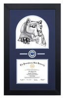 Always a Lion Black Wood Finished Diploma Frame with Medallion and Double Mat (31 x  23)