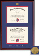 Framing Success Classic Mdl Dbl Diploma Frame, Double Mat with Medallion, Burnished Cherry Finish