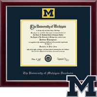 Church Hill Classics Dearborn Masterpiece Diploma Frame. Bachelors, Masters (Online Only)