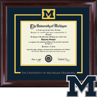 Church Hill Classics Dearborn Showcase Diploma Frame. Bachelors, Masters (Online Only)