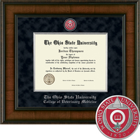 Church Hill Classics Presidential Diploma Frame, Veterinary Med (Online Only)