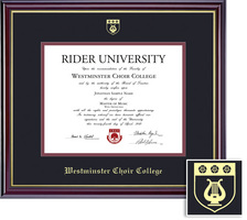 Framing Success Windsor Diploma Frame, Dbl Mat in a High Gloss Cherry Finish with a Gold Inner Bevel