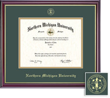 Framing Success Windsor Diploma Frame, Double Mat in a High Gloss Cherry Finish, Gold Inner Bevel