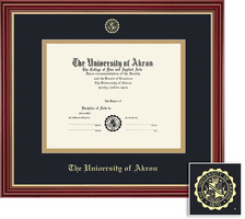 Framing Success Prestige (Black), Regal (Cherry), or Windor (Gloss Cherry) Diploma Frame. PHD