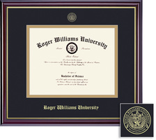 Framing Success Prestige (Black Finish) or Windsor (Gloss Cherry Finish) Diploma Frame