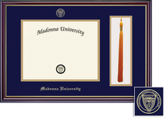 Framing Success Diploma & Tassel Frame, Dbl Mat, High Gloss Cherry Finish, Gold Inner Bevel. BA, MA