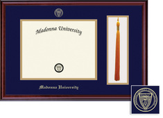 Framing Success Diploma & Tassel Frame, Double Mat in a Rich Burnished Cherry Finish. BA, MA
