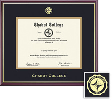 Framing Success Academic Diploma Frame, Double Mat in a High Gloss Cherry Finish, Gold Inner Bevel