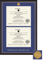 Framing Success Prestige (Black Finish) & Windsor (Cherry Finish)  Diploma Frame Double Matted