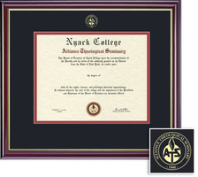 Framing Success Windsor Diploma Frame, Dbl Mat, High Gloss Cherry Finish, Beautiful Gold Accents. BA