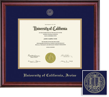 Framing Success Classic Diploma Frame, Double Mat in a Rich Burnished Cherry Finish. BA, MA