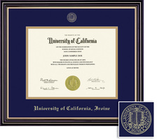 Framing Success Prestige Diploma Frame, Dbl Mat, Satin Black Finish, Beautiful Gold Accents. BA, MA