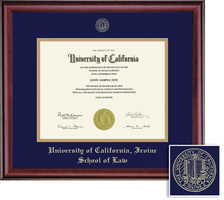 Framing Success Classic Diploma Frame, Double Mat in a Rich Burnished Cherry Finish. Law
