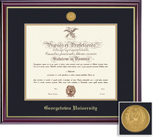 Framing Success Windsor Mdl Diploma, Dbl Mat in a high gloss cherry finish with gold inner bevel