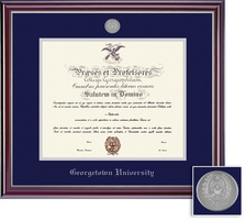 Framing Success Jefferson Mdl Diploma, Dbl Mat in a high gloss cherry finish with silver inner bevel
