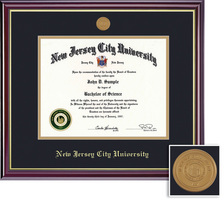 Framing Success PhD Mdl Windsor Diploma Frame, Double Mat in a High Gloss Cherry Finish