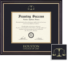 Framing Success Prestige (716Pres) Dip, Double Mat satin black beautiful gold accents