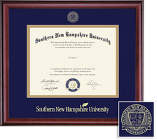 Framing Success Classic BAMA Diploma, Double Mat in a rich burnished cherry finish