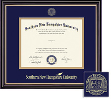 Framing Success Prestige BAMA Diploma, Double Mat in a satin black finish w beautiful gold accents