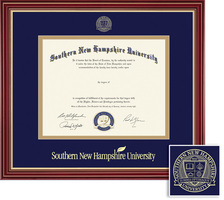 Framing Success Regal BAMA Diploma, Double Mat in a elegant cherry finish w impressive gold accents