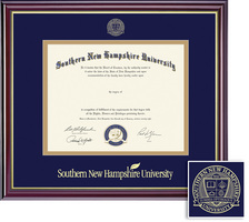 Framing Success Classic BAMA Diploma, Double Mat in high gloss cherry finish with a gold inner bevel