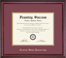 Framing Success Classic MA Diploma, Double Mat in a rich burnished cherry finish