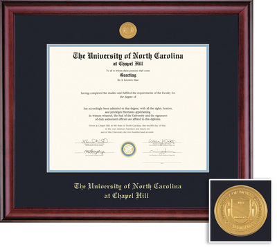 Framing Success Classic Medallion Diploma, Double Mat in a Rich Burnished  Cherry Finish