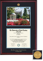 Framing Success Classic Medallion Photo Diploma, Double Mat in a Rich Burnished  Cherry Finish
