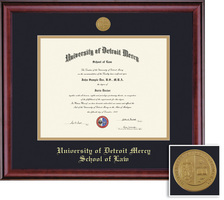 Framing Success Classic Law Mdl Diploma, Dbl Mat in a rich burnishedcherry finish