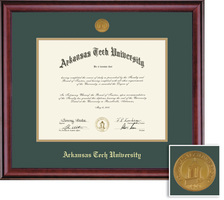 Framing Success Classic Diploma, Double Mat in a Rich Burnished Cherry Finish