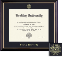 Framing Success Prestige Diploma, Single Mat Satin Black Finish with Gold Accents
